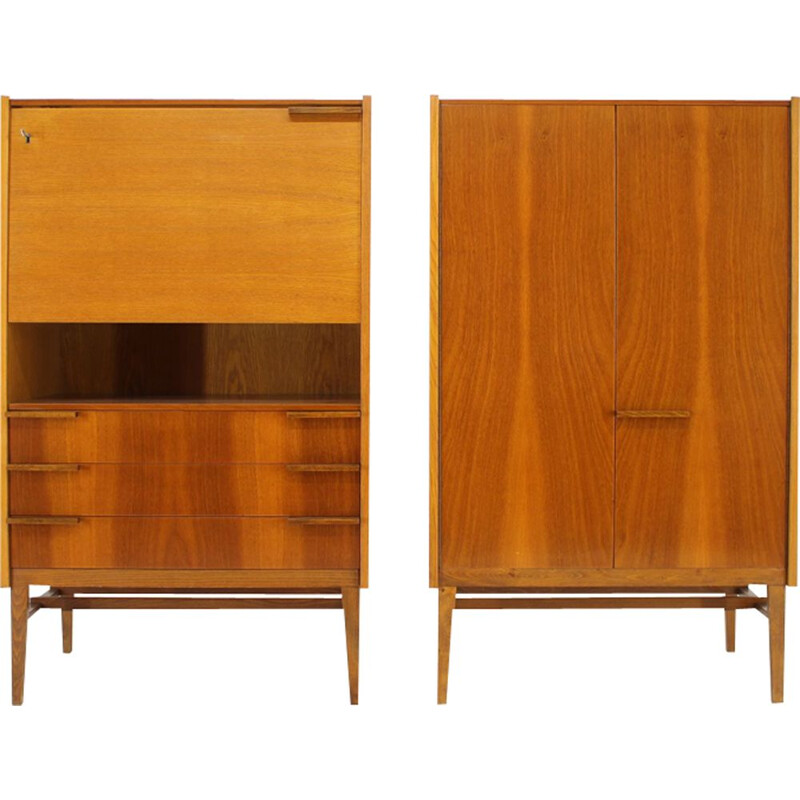 Pair of vintage secretaries by František Mezulánik for UP Závody, 1967