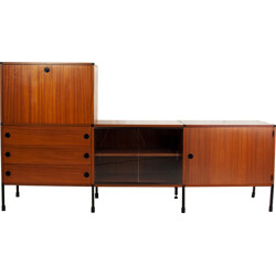 Minvielle sideboard in mahogany veneer, A.R.P. (MOTTE, MORTIER and GUARICHE) - 1960s