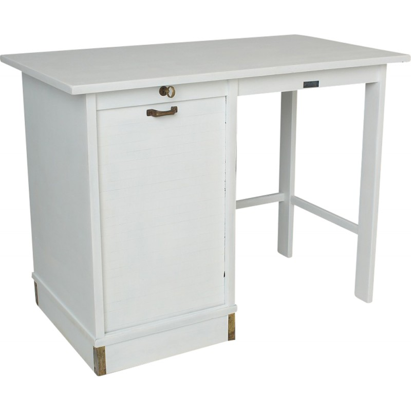 Vintage Desk In White Lacquered Beech 1950s