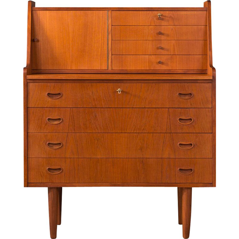 Vintage secretary desk in teak Denmark 1950s