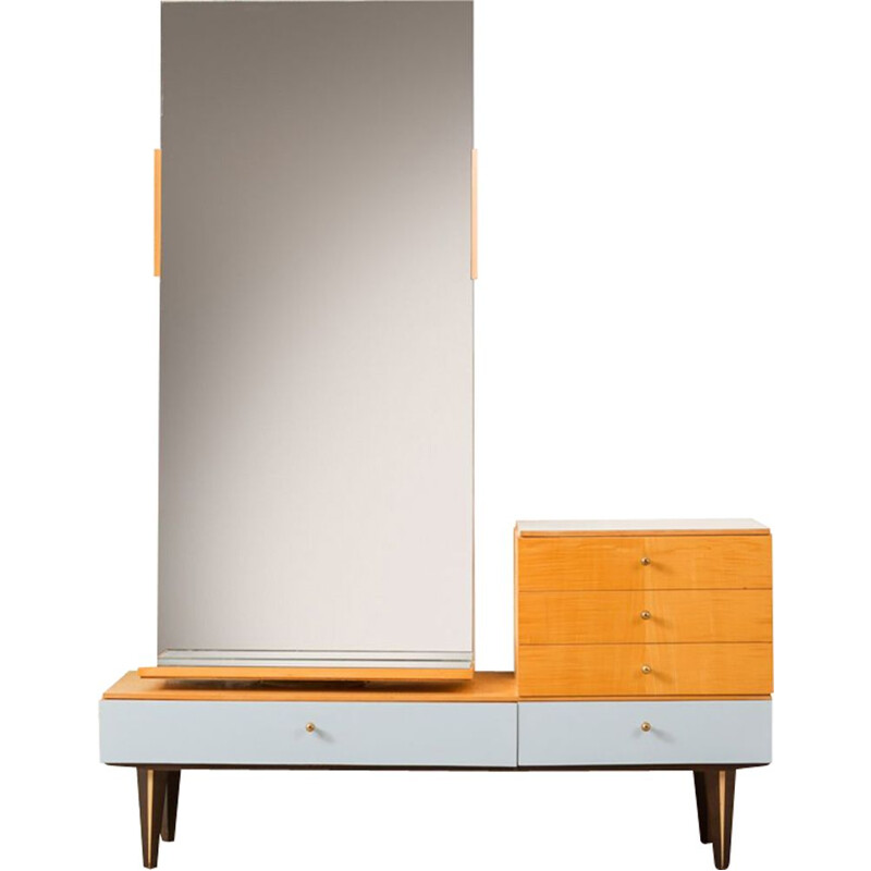 Vintage dressing table in birch Germany 1960s