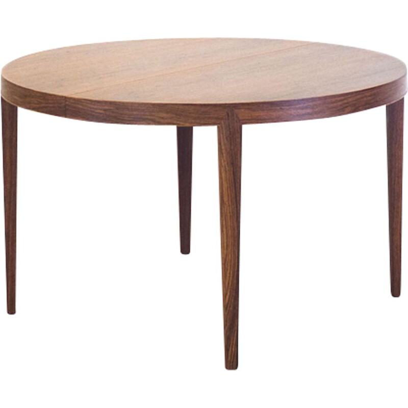 Vintage dining table in rosewood extendable by Severin Hansen Jr. for Haslev Møbelsnedkeri