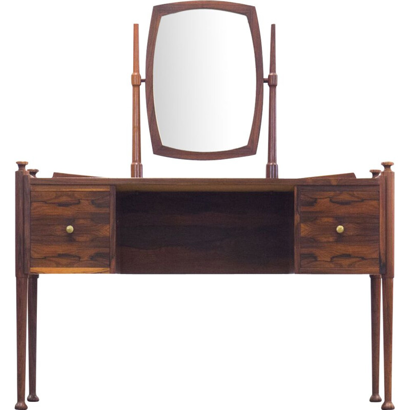 Vintage danish dressing table in rosewood 1950s