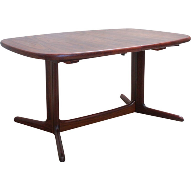 Vintage oval table for Rasmus in rosewood 1960s