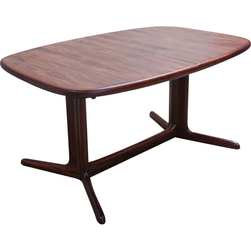 Vintage oval dining table in rosewood from Rasmus