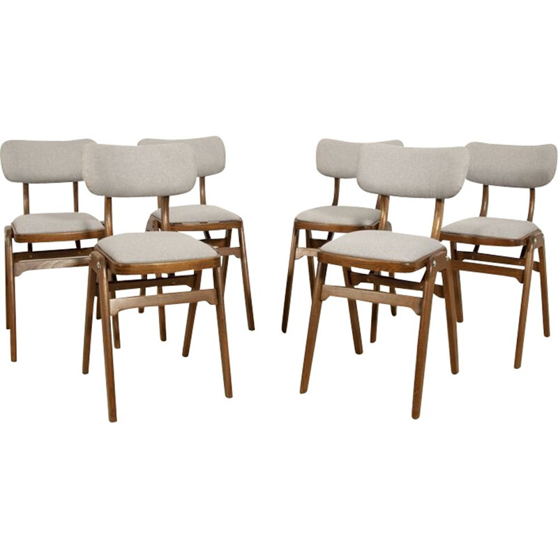 Vintage set of 6 Dining Chairs 1960