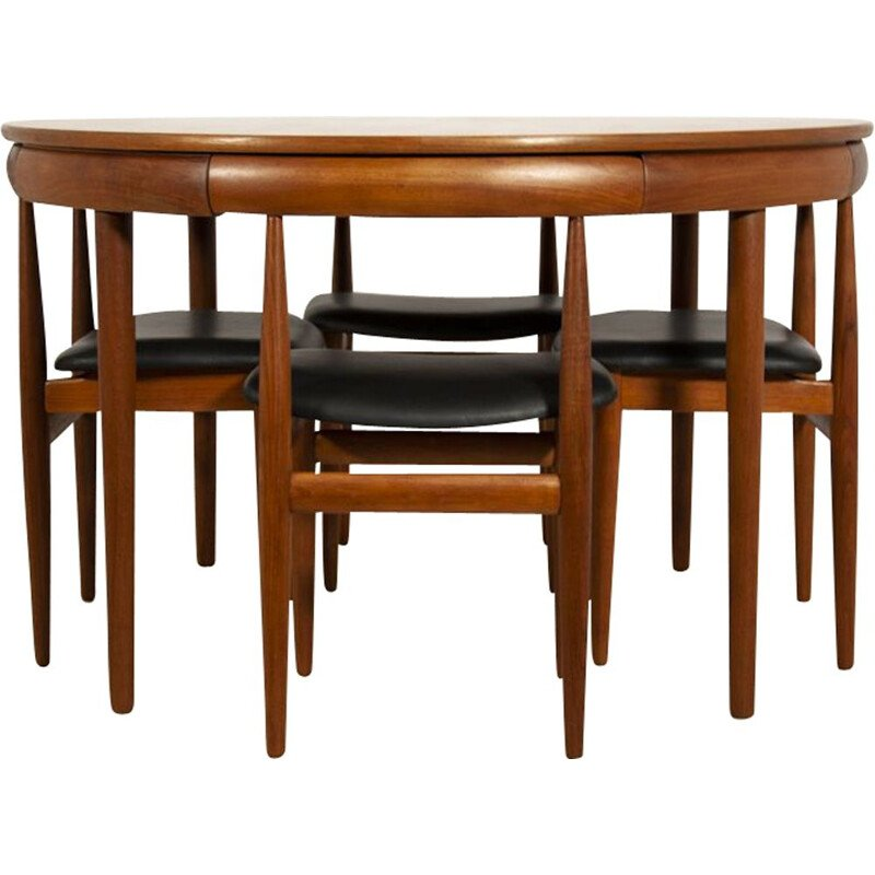 Vintage dining set for Frem Røjle in teakwood 1960s