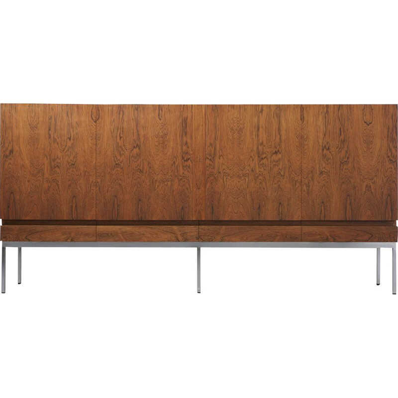 Vintage sideboard A B-60 in rosewood by Dieter Waeckerlin for Behr Germany