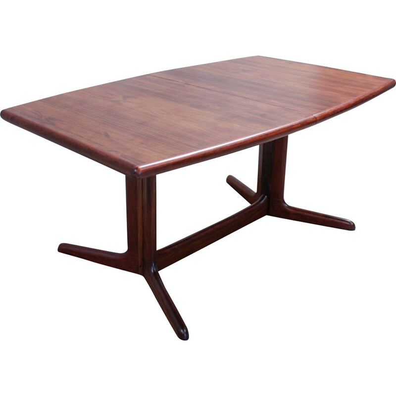 Vintage dining table oval in rosewood from Skovby, 1960s