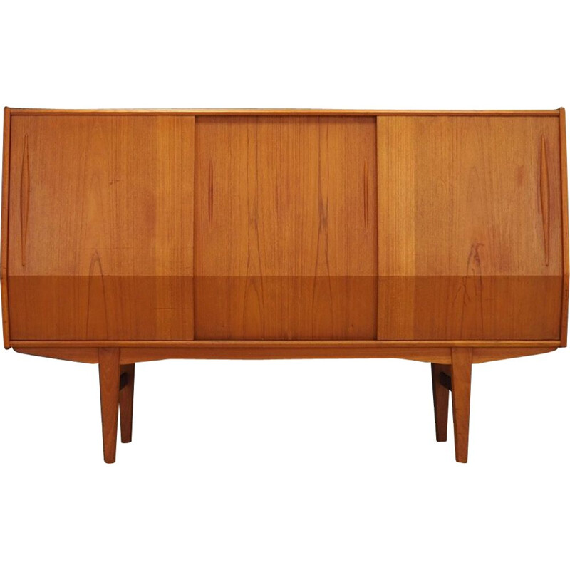 Vintage danish highboard in teakwood 1960s