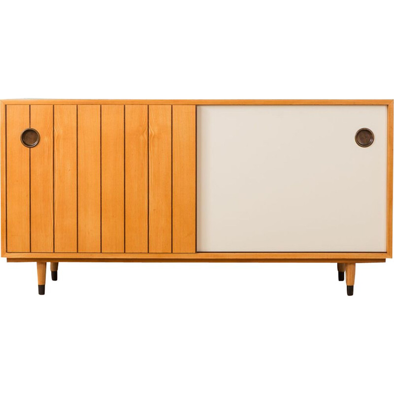 Vintage sideboard for Oldenburger Möbelwerkstätten in ash and white formica 1950s