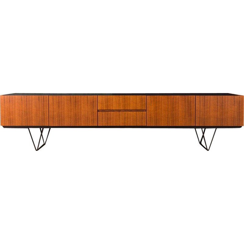 Vintage walnut sideboard from the 1960s