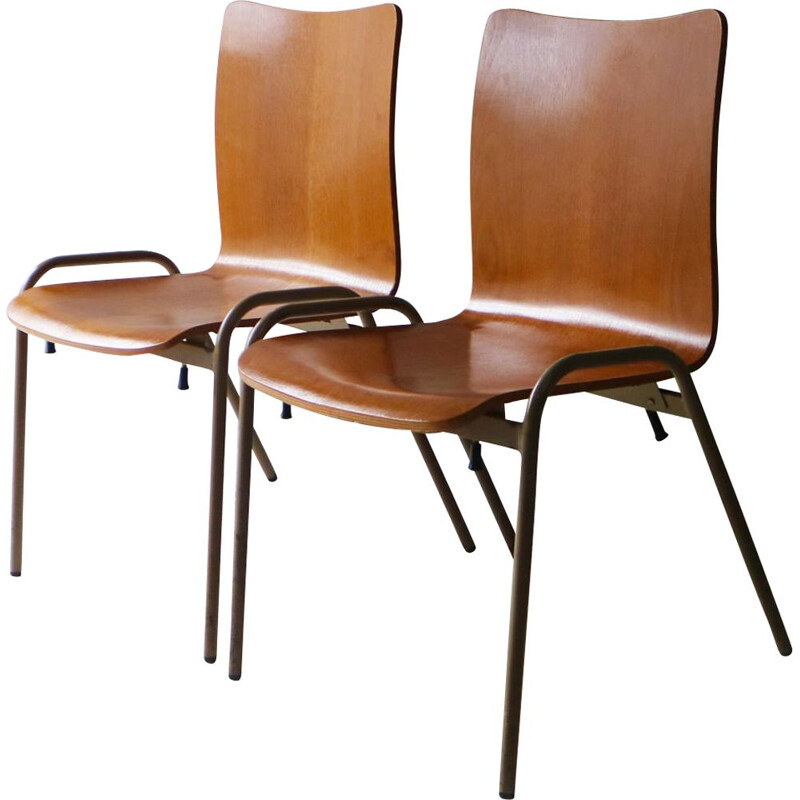 Vintage Danish 1960s stacking chairs
