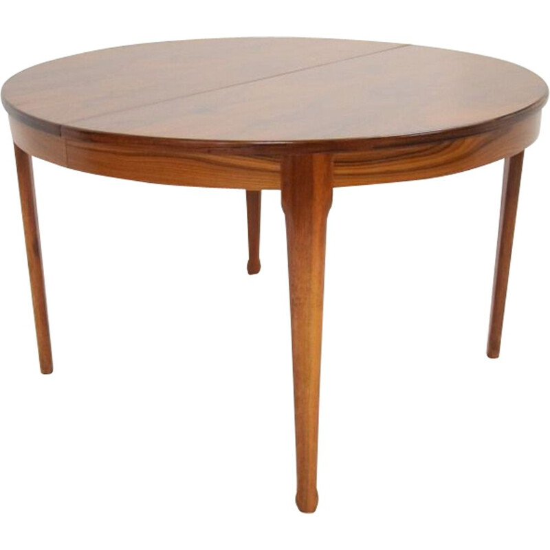 Vintage round table Scandinavian design rosewood