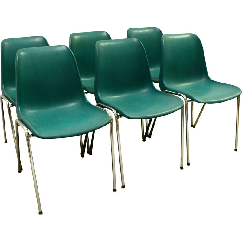 Set of 6 vintage chairs 1970