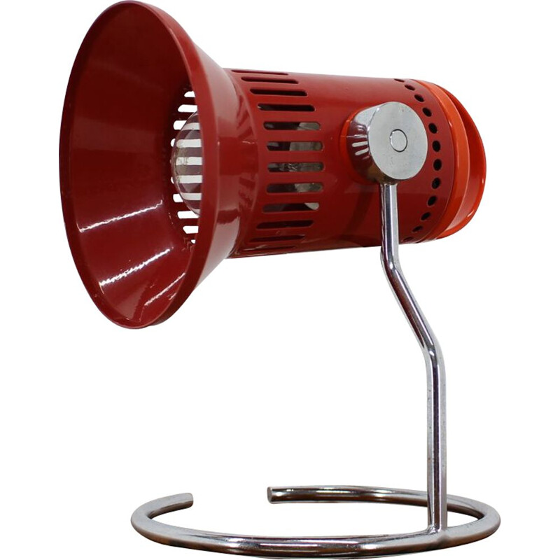 Vintage red adjustable table lamp 1980s