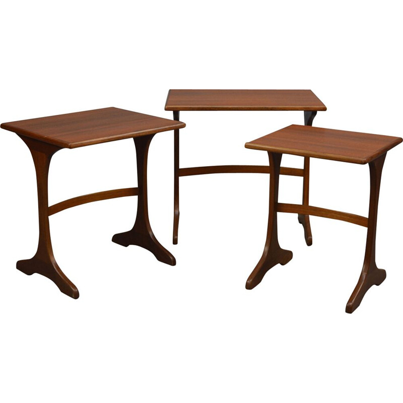 Vintage nesting tables in teak by G-Plan