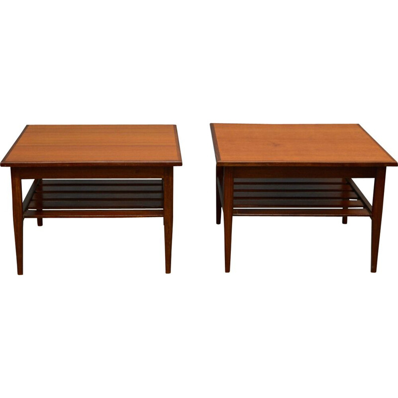 Pair of vintage side tables in teak by G-Plan