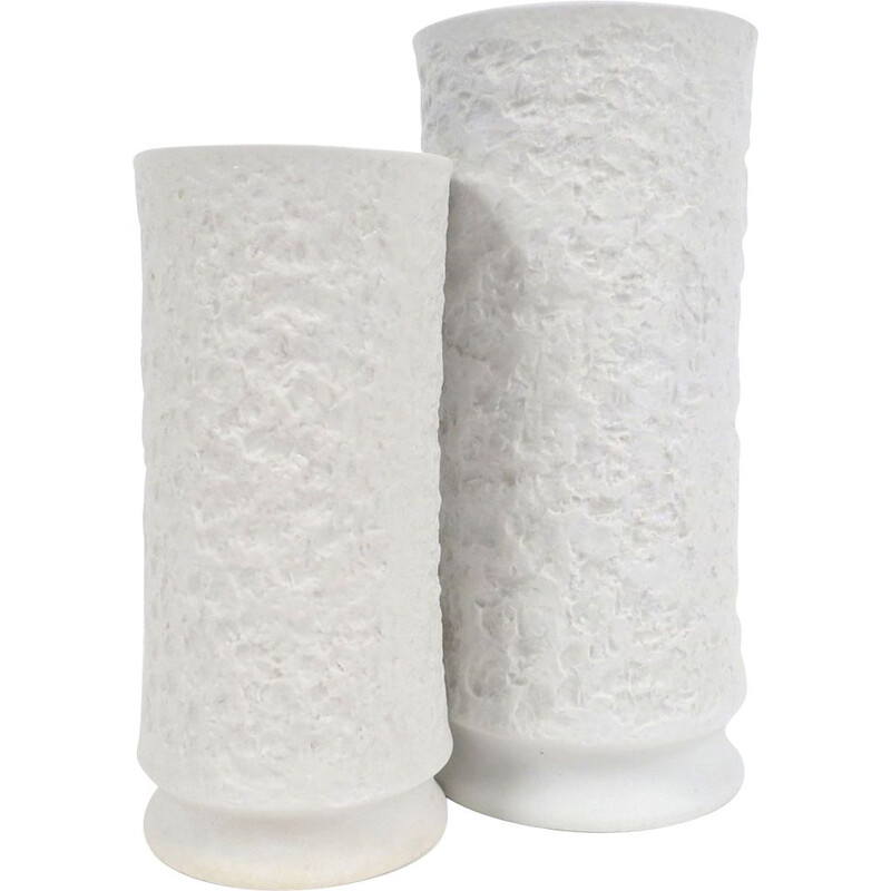 Pair of white vases in porcelain by Royal Bavaria