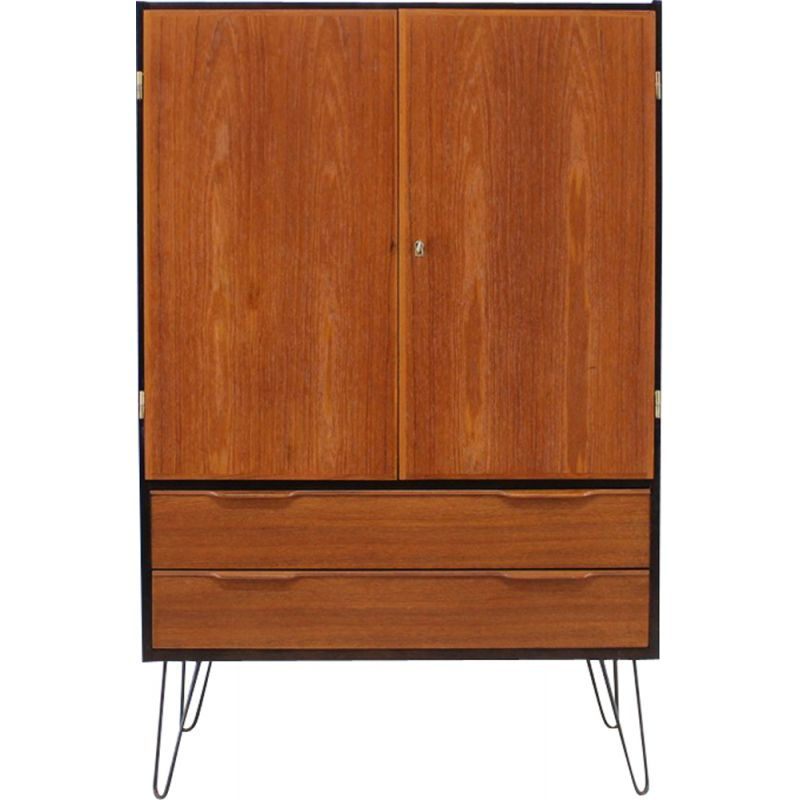 Danish cabinet in teak with iron legs