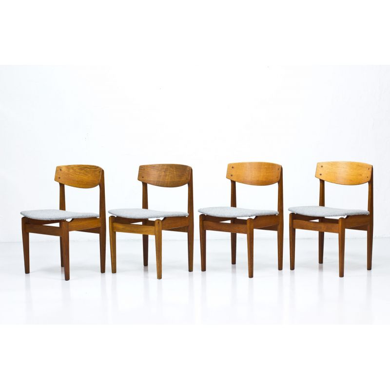 Set Of 4 Dining Chairs In Oak By Jørgen Baekmark For Fdb Model 78 Design Market