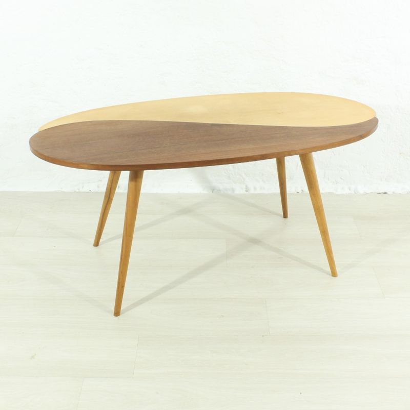 Vintage German Coffee Table In Marple And Beechwood 1950s