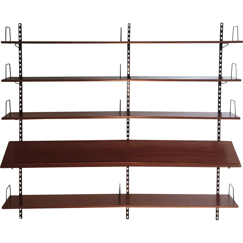 Vintage bookcase in wood and metal 1960s