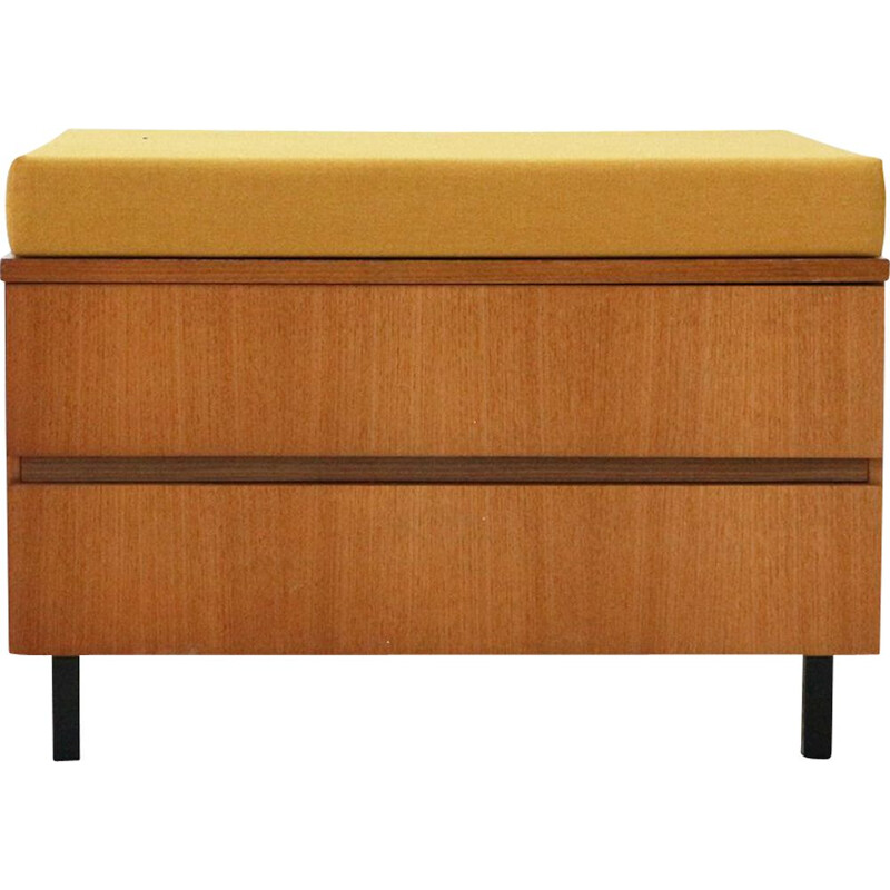 Vintage small modern Padded chest of drawers