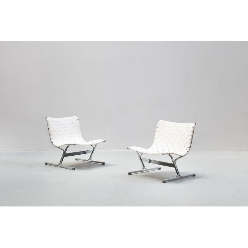 Awe Inspiring Pair Of Vintage Lounge Chairs By Ross Littell For Icf Italy Creativecarmelina Interior Chair Design Creativecarmelinacom