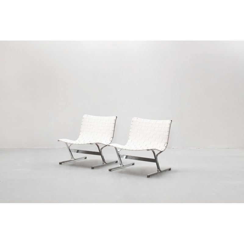 Tremendous Pair Of Vintage Lounge Chairs By Ross Littell For Icf Italy Creativecarmelina Interior Chair Design Creativecarmelinacom