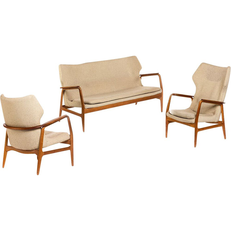 Vintage Set with Sofa and two Chairs by Aksel Bender Madsen for Bovenkamp 1960s
