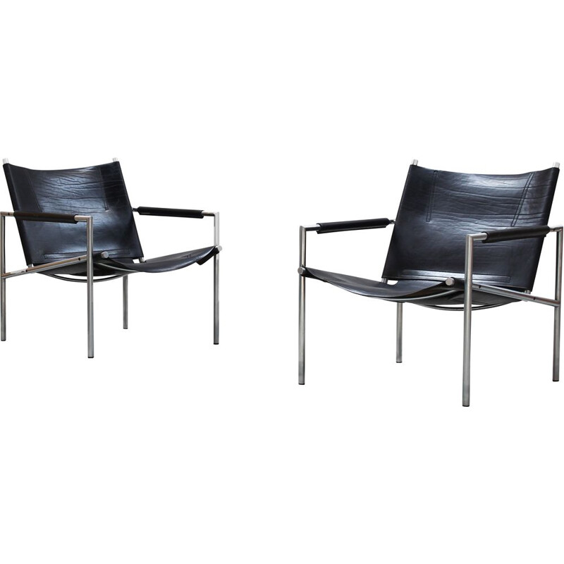 Set of 2 vintage armchairs by Martin Visser for Spectrum 1960s