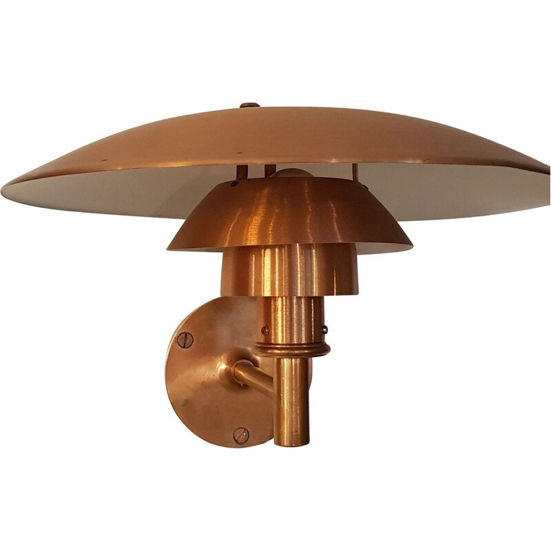 PH 4-53 wall lamp in copper by Poul Henningsen for Louis Poulsen