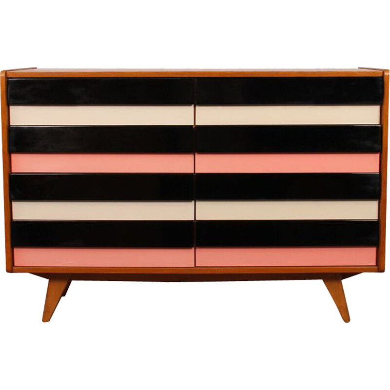 Vintage pink chest of drawers for Interier Praha 1960