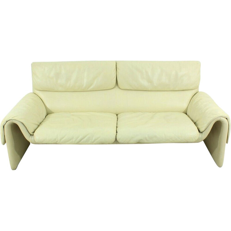 Vintage DS 2011 sofa for De Sede in beige leather 1960s