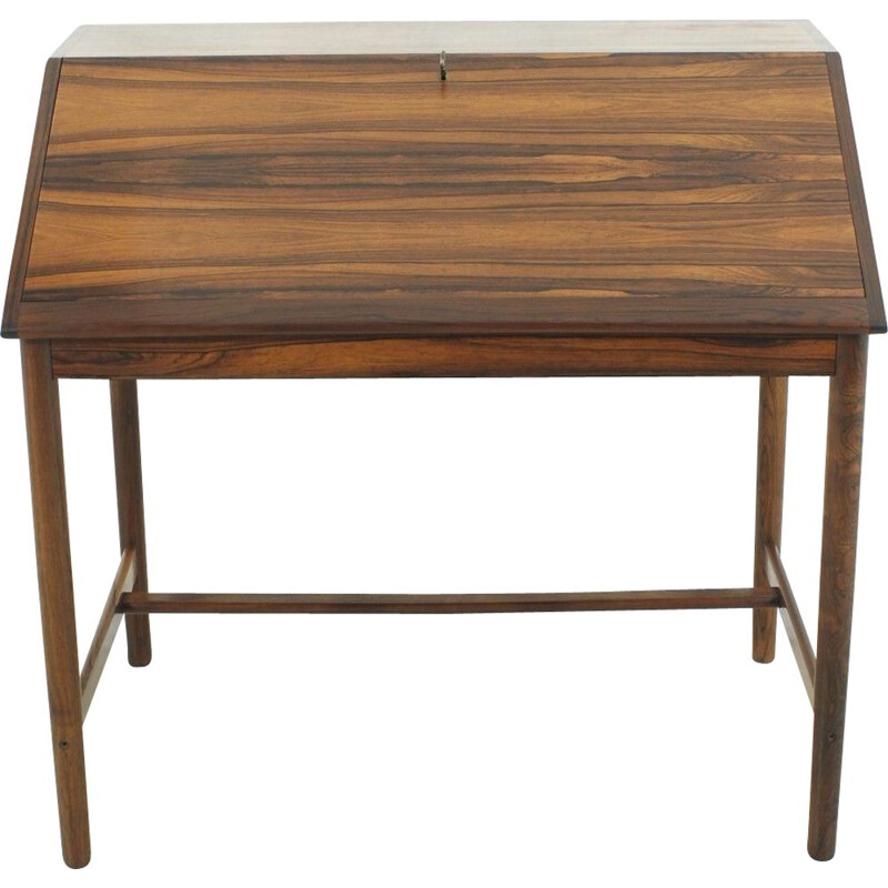 Vintage german writing desk in rosewood 1960s