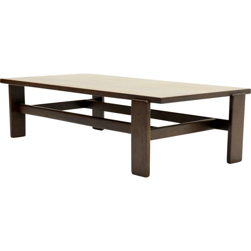 Vintage Asymmetrical Solid Wenge Wooden Coffee Table Design Market