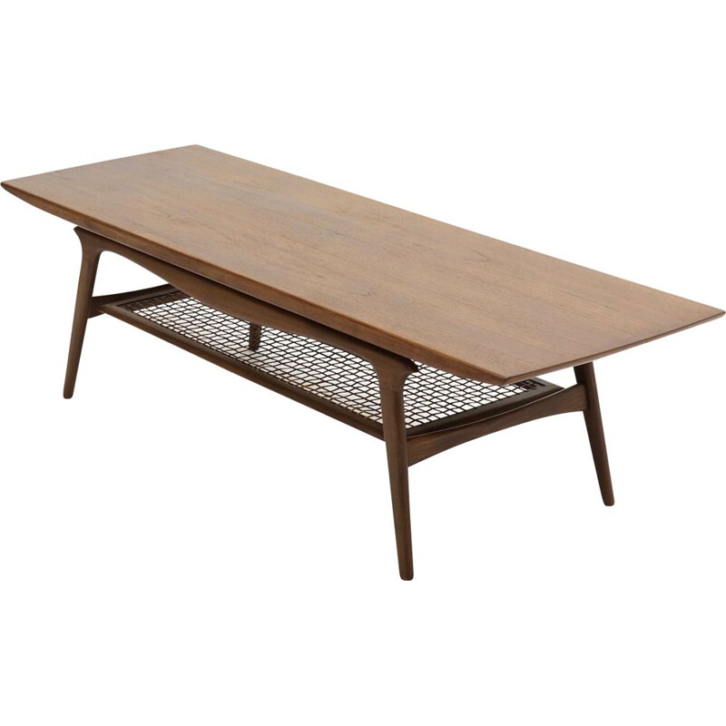 Vintage large teak coffee table Danish design