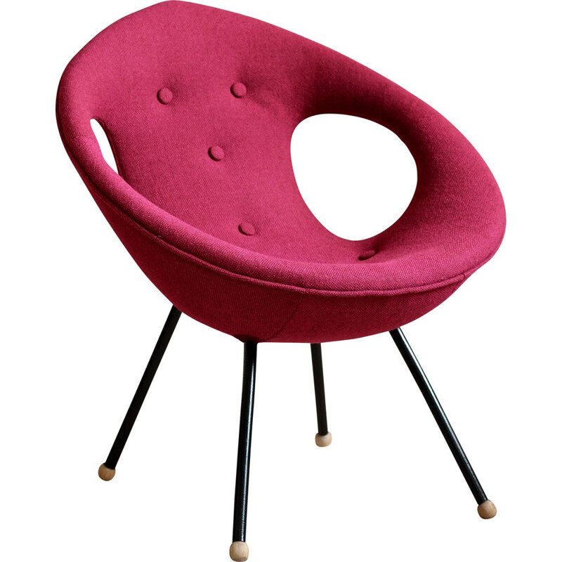Vintage lounge chair, UFO, Kvadrat Fabric, Space Age