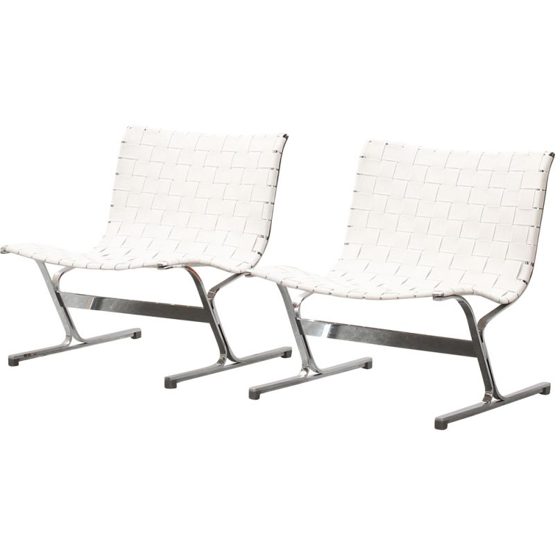 Pair of vintage lounge chairs by Ross Littell for ICF Italy