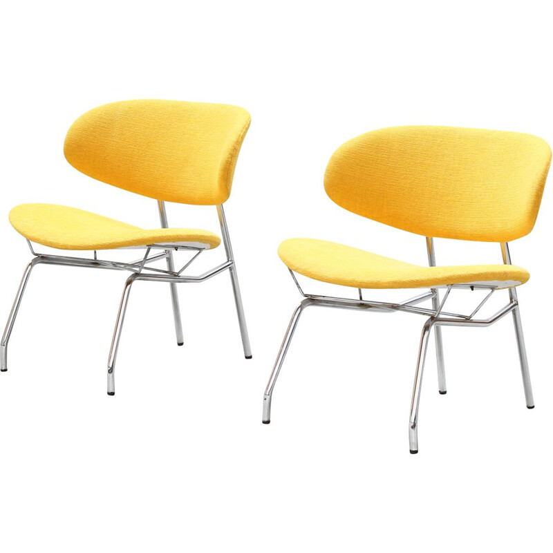 Pair of vintage lounge chairs by Rino Vernuccio Italy