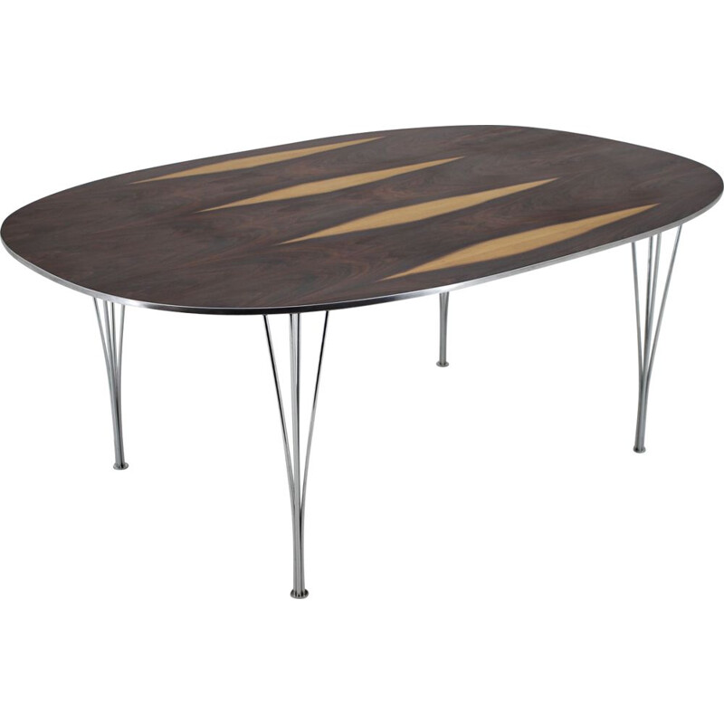 Vintage Super Ellipse table for Fritz Hansen in rosewood 1970s