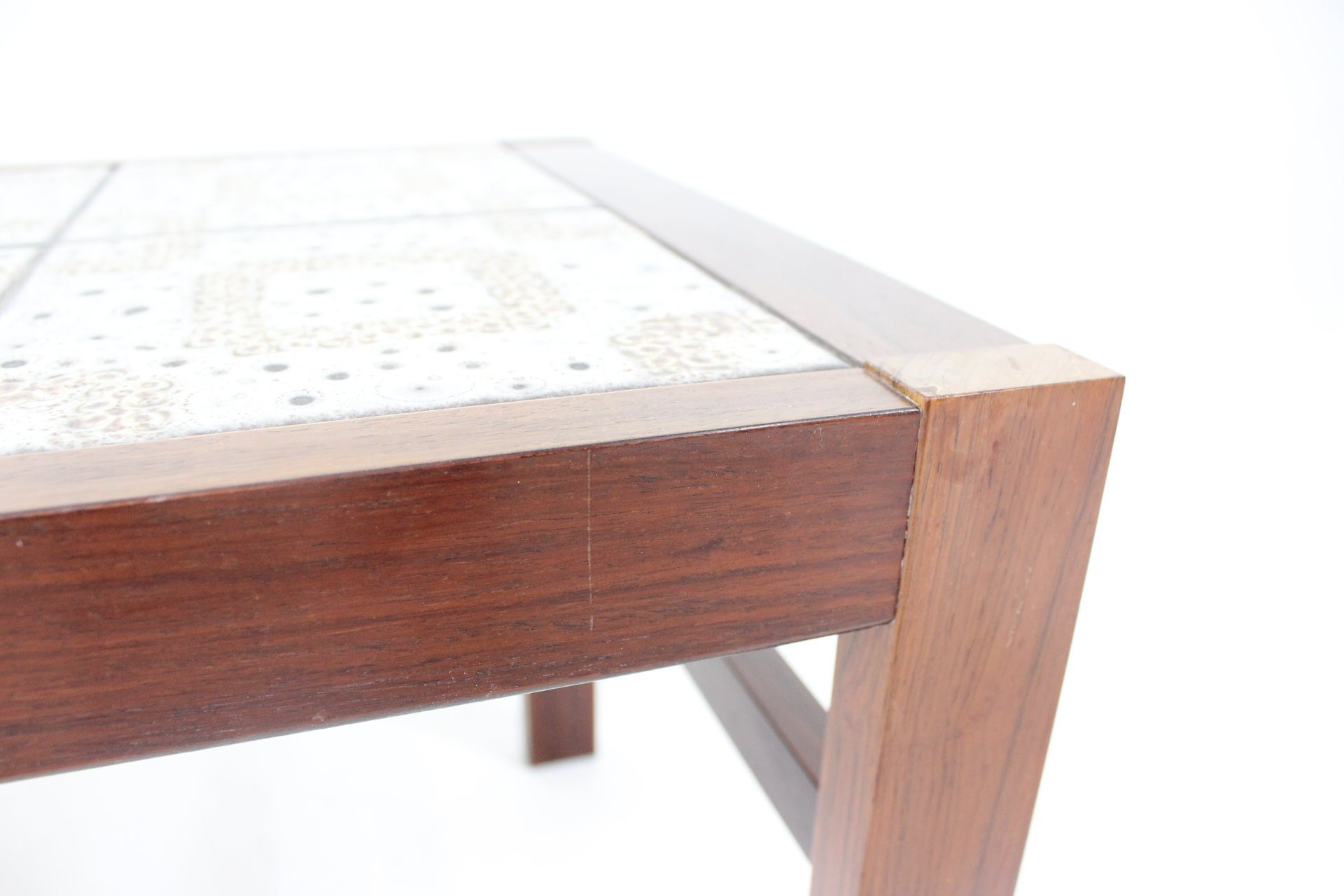 Vintage tiled coffee table in rosewood 1960s Design Market