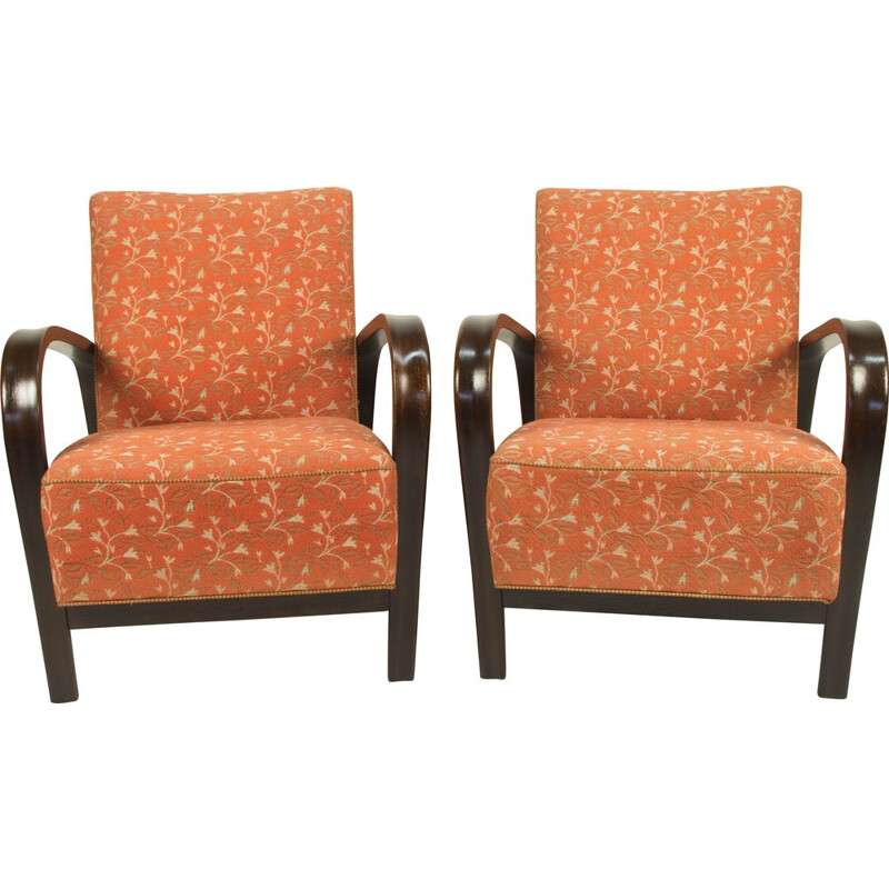 Set of 2 vintage armchairs by Kozelka a Kropacek