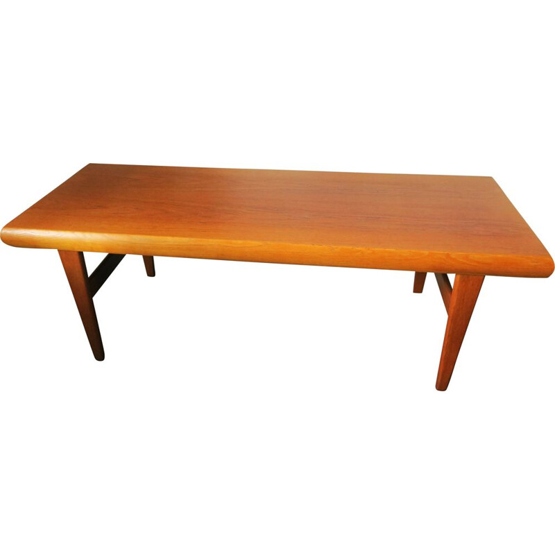 Vintage multifunctional teak coffee table by Johannes Andersen for Trioh