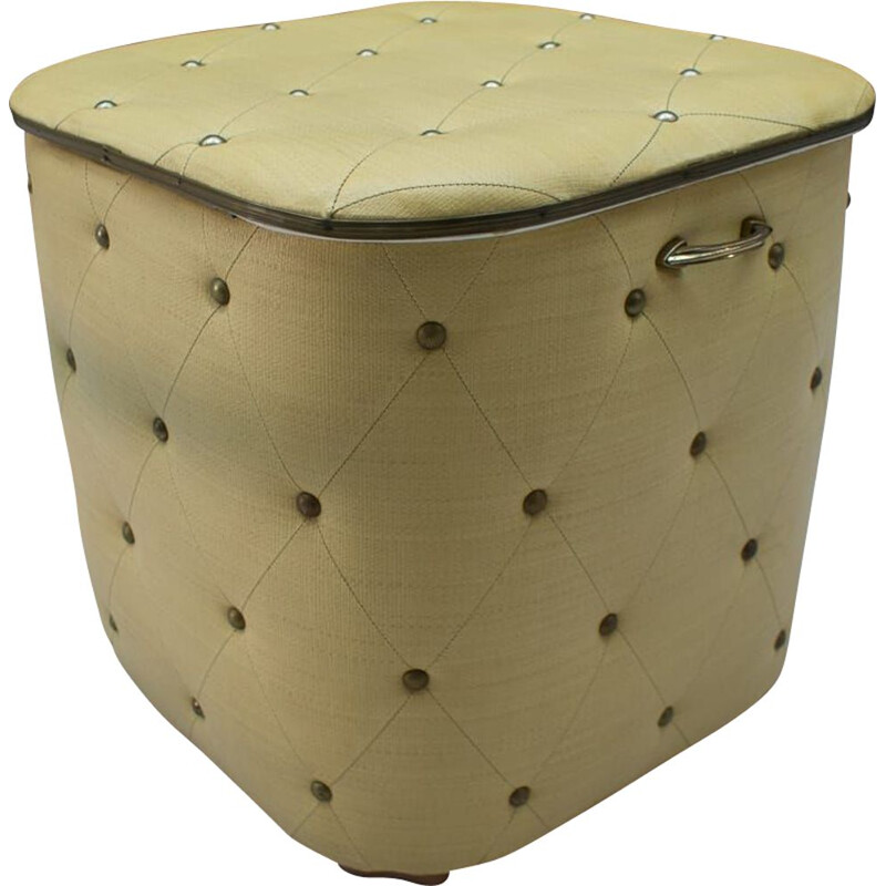 Vintage pouf box with studs, 1950s