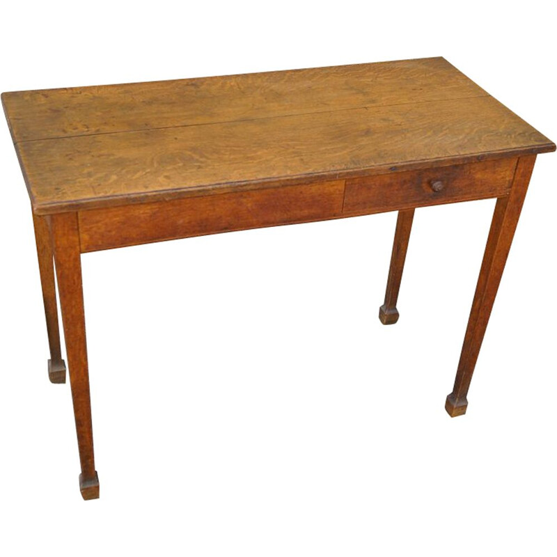Vintage writing desk in oak France 1940