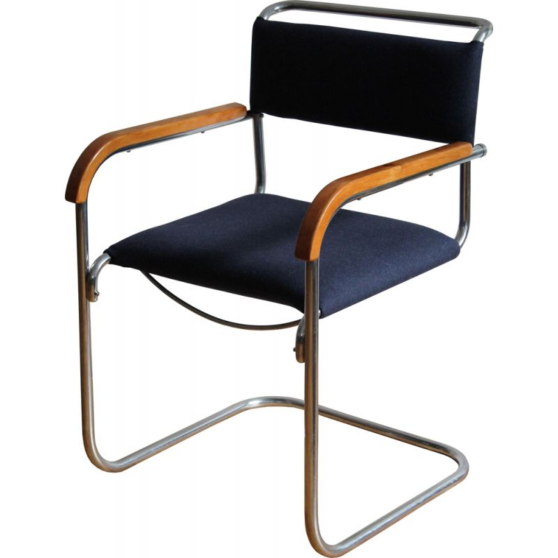 Vintage chair Bauhaus Cantilever by H.J.Hagemann for Mucke-Melder 1930s