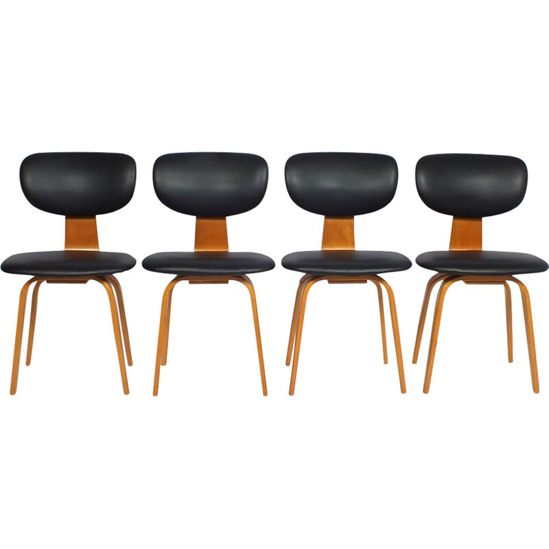 Set of vintage dining chairs Pastoe SB02 by Cees Braakman 1952