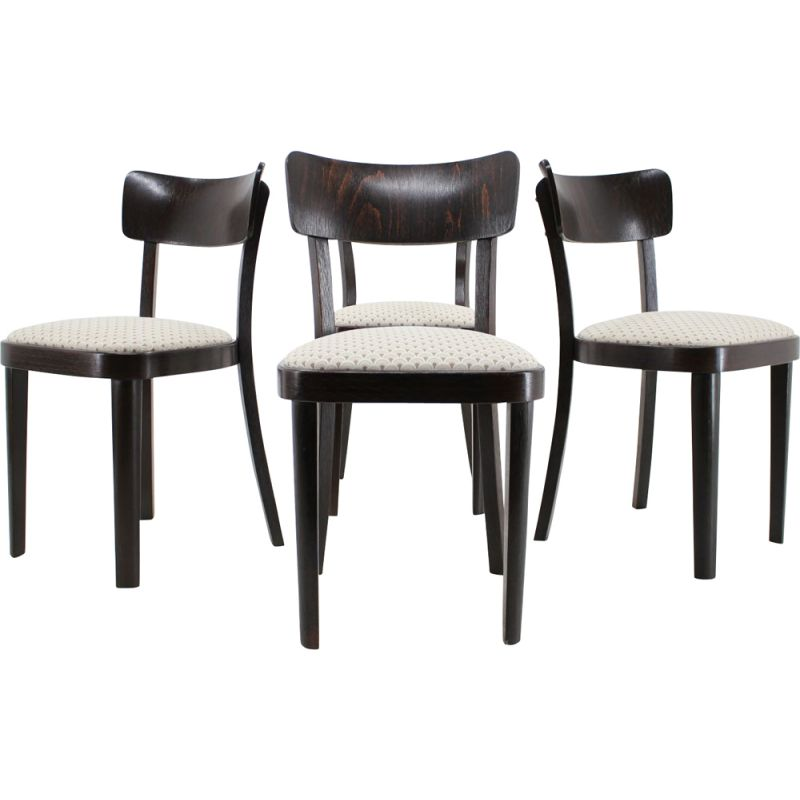 Set of 4 vintage dining chairs Thonet, 1950s
